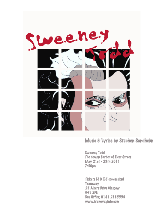 sweeney todd musical poster