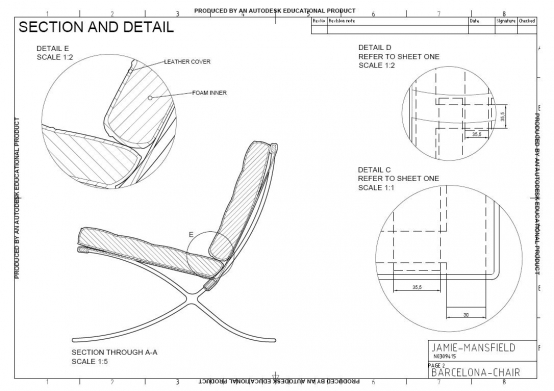 06052011 Barcelona Chair an AutoCAD drawing sheet 2  : fa77dad0a86c303f41c1a5985887eeb9abc7f484x554 from www.studentdesigners.com size 554 x 391 jpeg 113kB